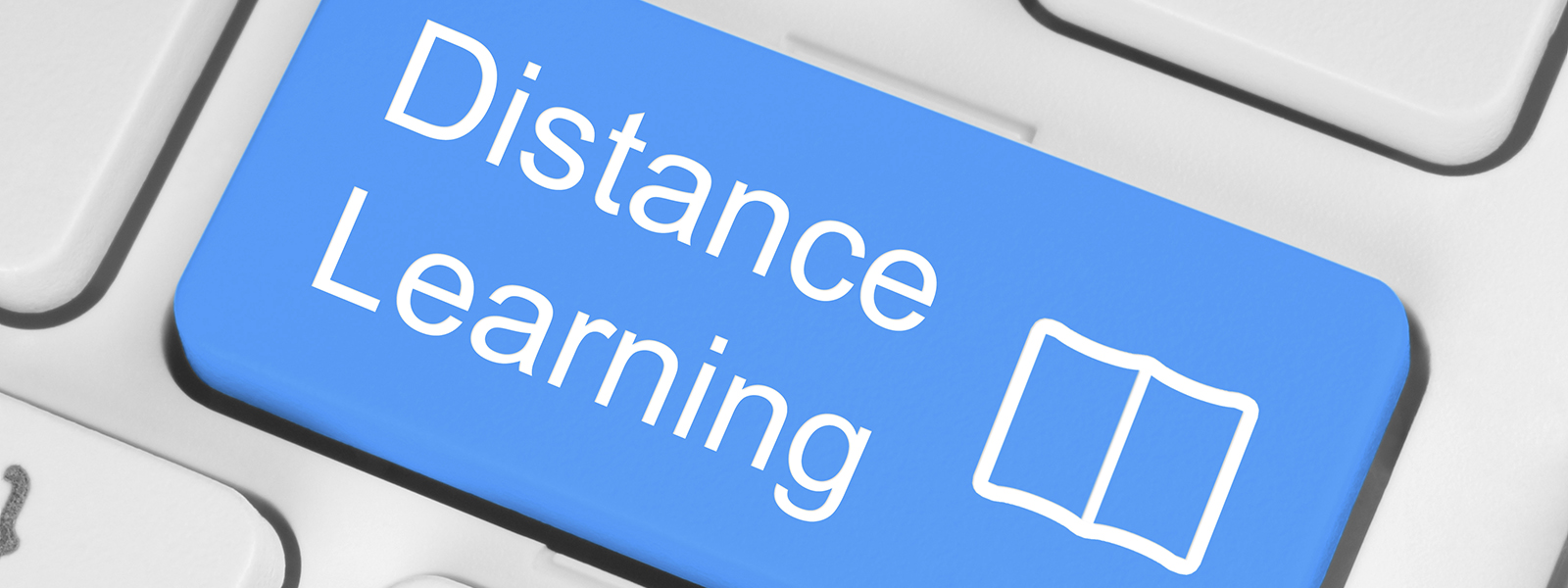 Blue distance learning button